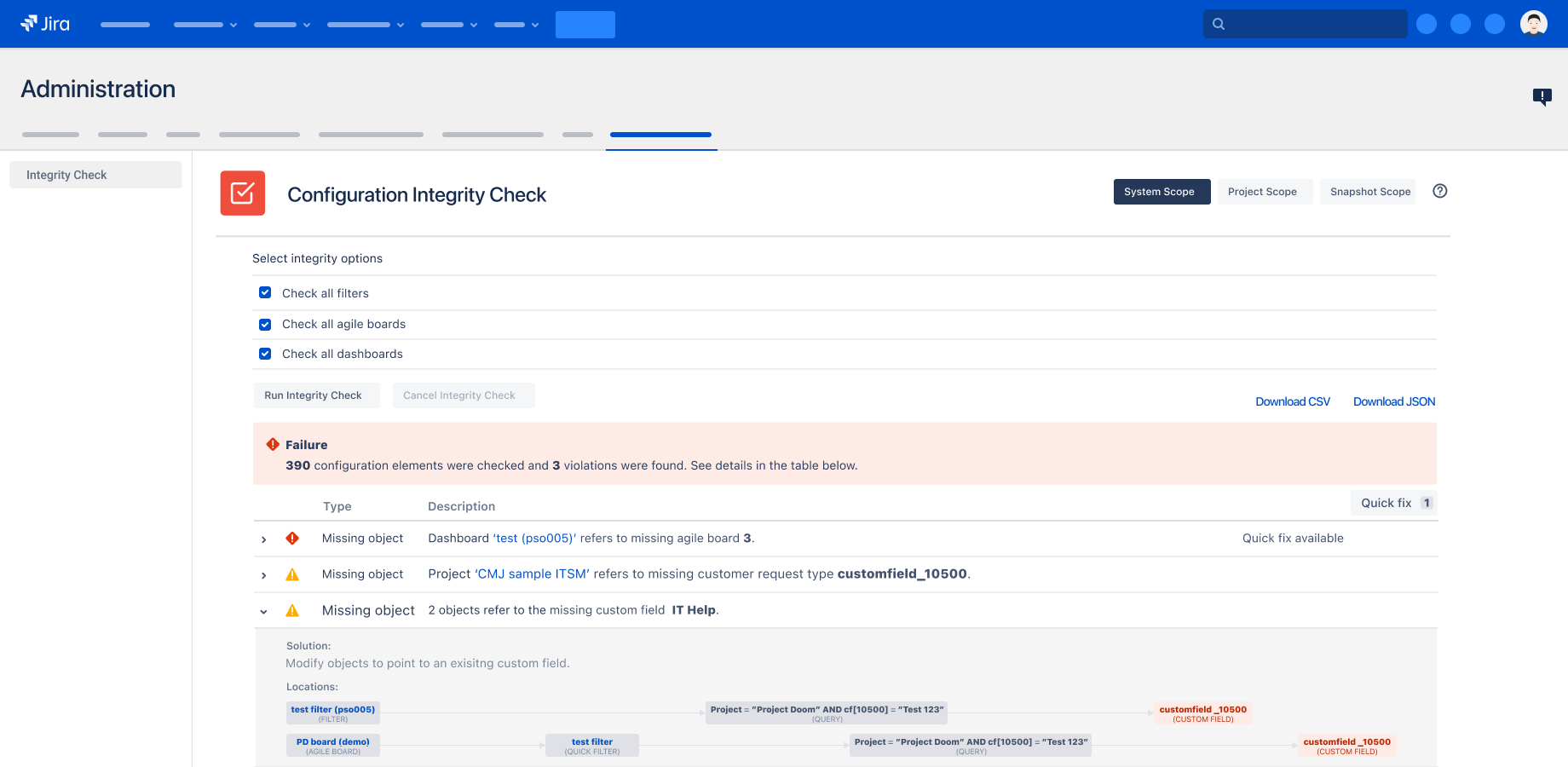 Integrity Check for Jira